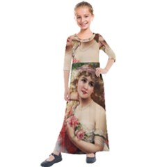 Vintage 1501576 1280 Kids  Quarter Sleeve Maxi Dress by vintage2030