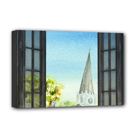 Town 1660455 1920 Deluxe Canvas 18  X 12  (stretched) by vintage2030