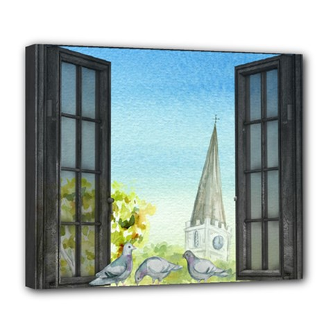 Town 1660455 1920 Deluxe Canvas 24  X 20  (stretched) by vintage2030