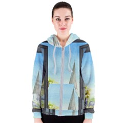 Town 1660455 1920 Women s Zipper Hoodie by vintage2030