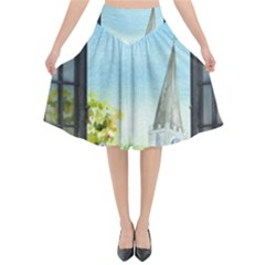 Town 1660455 1920 Flared Midi Skirt by vintage2030