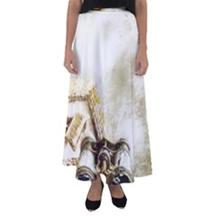 Background 1660942 1920 Flared Maxi Skirt by vintage2030