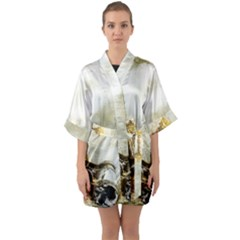 Background 1660942 1920 Quarter Sleeve Kimono Robe by vintage2030