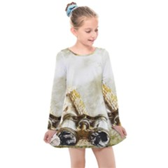 Background 1660942 1920 Kids  Long Sleeve Dress by vintage2030