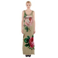 Flower 1770189 1920 Maxi Thigh Split Dress by vintage2030