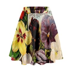 Flowers 1776534 1920 High Waist Skirt by vintage2030