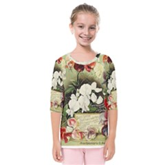 Flowers 1776617 1920 Kids  Quarter Sleeve Raglan Tee