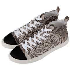 Flowers 1776630 1920 Men s Mid Top Canvas Sneakers by vintage2030