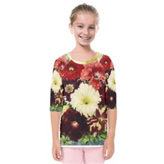 Flowers 1776585 1920 Kids  Quarter Sleeve Raglan Tee