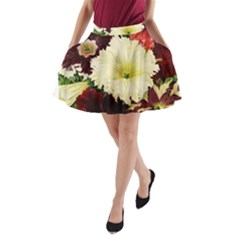 Flowers 1776585 1920 A Line Pocket Skirt by vintage2030