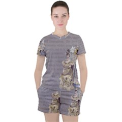 Background 1775352 1280 Women s Tee And Shorts Set
