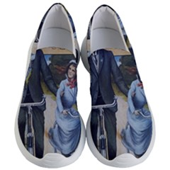 Couple On Bicycle Women s Lightweight Slip Ons by vintage2030