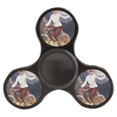 Woman On Bicycle Finger Spinner by vintage2030