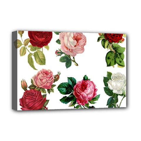 Roses 1770165 1920 Deluxe Canvas 18  X 12  (stretched) by vintage2030