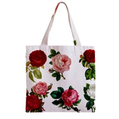 Roses 1770165 1920 Zipper Grocery Tote Bag by vintage2030