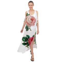 Roses 1770165 1920 Maxi Chiffon Cover Up Dress