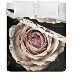 Vintage Rose Duvet Cover Double Side (california King Size) by vintage2030