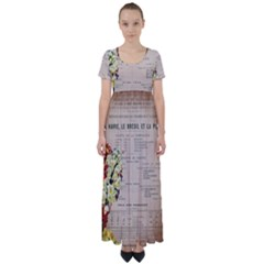 Letter Floral High Waist Short Sleeve Maxi Dress by vintage2030
