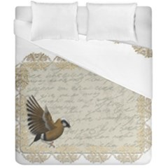 Tag Bird Duvet Cover Double Side (california King Size) by vintage2030