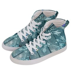 Green Tree Men s Hi Top Skate Sneakers by vintage2030