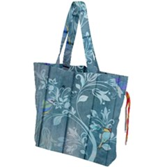 Green Tree Drawstring Tote Bag