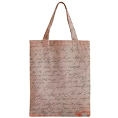 Letter Zipper Classic Tote Bag by vintage2030