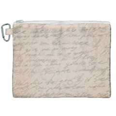 Letter Canvas Cosmetic Bag (xxl) by vintage2030