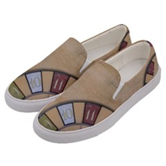 Circle Men s Canvas Slip Ons by vintage2030