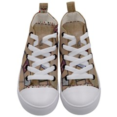 Circle Kid s Mid Top Canvas Sneakers