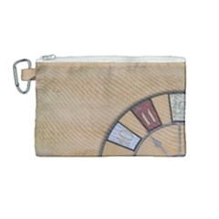 Circle Canvas Cosmetic Bag (medium) by vintage2030