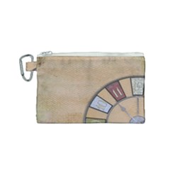 Circle Canvas Cosmetic Bag (small) by vintage2030