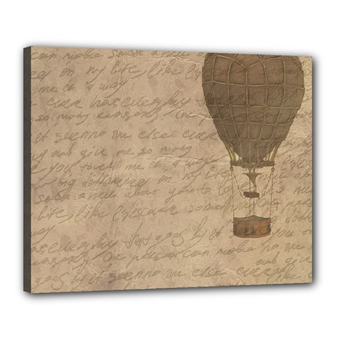 Letter Balloon Canvas 20  X 16  (stretched) by vintage2030