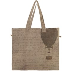 Letter Balloon Canvas Travel Bag by vintage2030