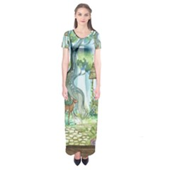 Town 1660349 1280 Short Sleeve Maxi Dress by vintage2030