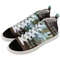 Town 1660349 1280 Men s Mid Top Canvas Sneakers by vintage2030