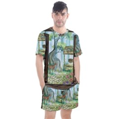 Town 1660349 1280 Men s Mesh Tee And Shorts Set by vintage2030