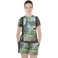 Town 1660349 1280 Women s Tee And Shorts Set by vintage2030