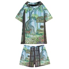 Town 1660349 1280 Kids  Swim Tee And Shorts Set by vintage2030