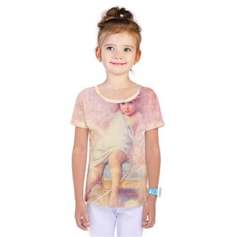 Baby In Clouds Kids  One Piece Tee by vintage2030
