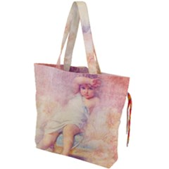 Baby In Clouds Drawstring Tote Bag