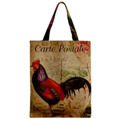 Rooster Zipper Classic Tote Bag by vintage2030