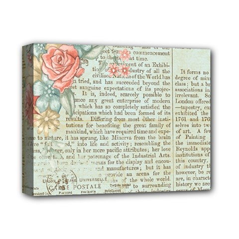 Rose Book Page Deluxe Canvas 14  X 11  (stretched) by vintage2030
