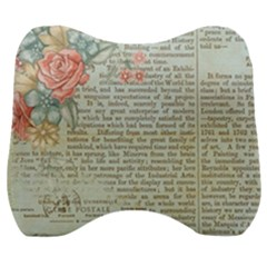 Rose Book Page Velour Head Support Cushion by vintage2030