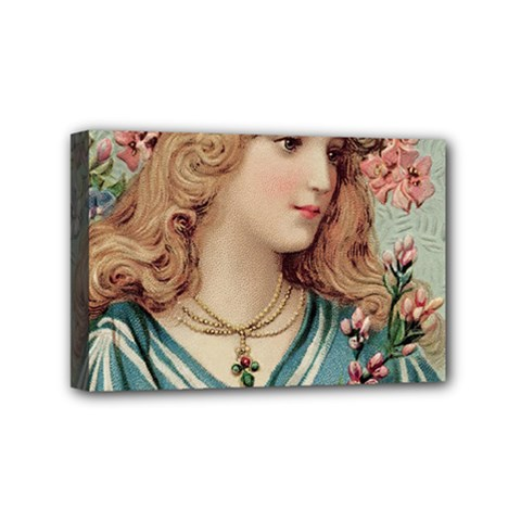 Lady Mini Canvas 6  X 4  (stretched) by vintage2030