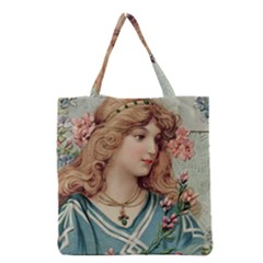 Lady Grocery Tote Bag