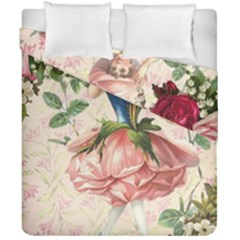 Flower Girl Duvet Cover Double Side (california King Size) by vintage2030