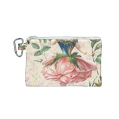 Flower Girl Canvas Cosmetic Bag (small) by vintage2030