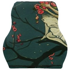 Girl And Flowers Car Seat Velour Cushion  by vintage2030