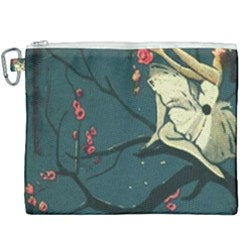 Girl And Flowers Canvas Cosmetic Bag (xxxl)