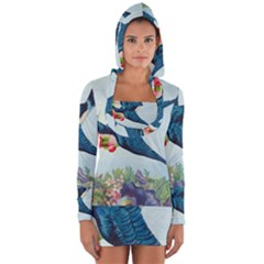 Blue Bird Long Sleeve Hooded T Shirt by vintage2030